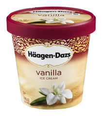 Haagen-Dazs Ice Cream, Vanilla (500ml)