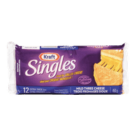 Kraft Singles Mild Three Cheese (24/pack)