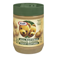 Kraft All Natural Peanut Butter Smooth (750g)