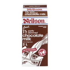 Neilson Milk 1% Partly Skimmed Chocolate (2L)  - Urbery