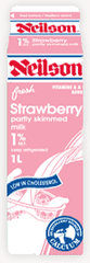 Neilson Milk 1% Partly Skimmed Strawberry (1L)