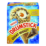 Nestle Ice Cream Drumstick Giant Nugget Vanilla Caramel (4X140ml)