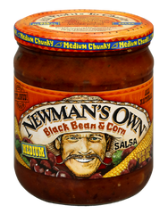 Newman's Own Salsa Black Bean & Corn Medium (415ml)