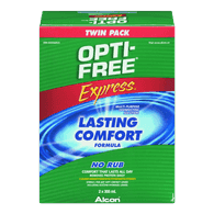 Opti-Free Express Contact Lens Solution, Twin Pack (2X355ml)