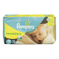 Pampers Diapers Swaddlers Jumbo Pack 1 (35 per pack)