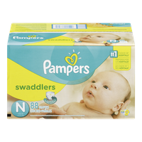 Pampers Diapers Swaddlers, Super Pack Newborn (88 per pack)