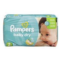 Pampers Diapers Baby Dry Jumbo 2 (37 per pack)