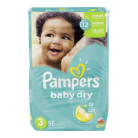 Pampers Diapers Baby Dry Mega Pack 3 (56 per pack)