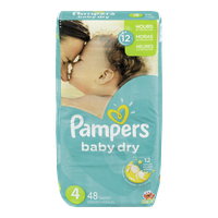 Pampers Diapers Baby Dry Mega Pack 4 (48 per pack)