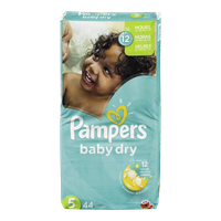 Pampers Diapers Baby Dry Mega Pack 5 (44 per pack)