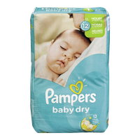 Pampers Diapers Baby Dry Jumbo 1 (44 per pack)