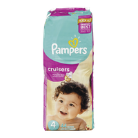 Pampers Diapers Cruisers Mega Pack 4 (44 per pack)