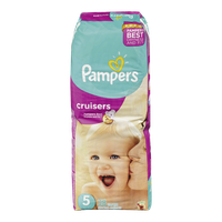Pampers Diapers Cruisers Mega Pack 5 (38 per pack)