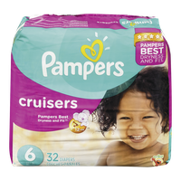 Pampers Diapers Cruisers Mega Pack 6 (32 per pack)