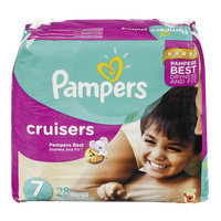 Pampers Diapers Cruisers Mega Pack 7 (28 per pack)