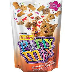 Purina Cat Food Friskies Partty Mix Mixed Grill Crunch (60g)  - Urbery