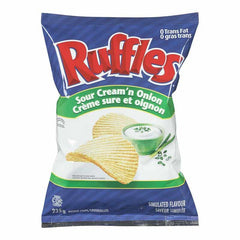 Ruffles Sour Cream'n Onion Chips (220g)