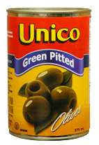 Unico Green Olives Pitted (375ml)