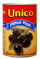 Unico Black Olives Pitted Ripe (375ml)