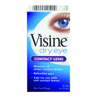 Visine Eye Drops Contact Lens Dry Eyes (15ml)