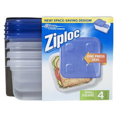 Ziploc Small Square 4 Containers