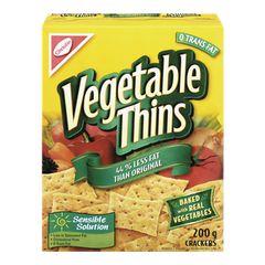 Christie Vegetable Thins Crackers Less Fat (200g)