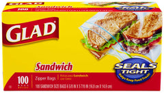 Glad Sandwich Bags with Fold Lock Top (100 bags)