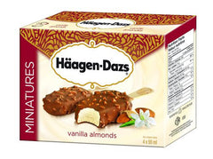 Haagen Dazs Vanilla Almonds Miniatures (4X55ml)
