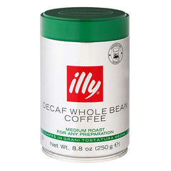 Illy Decaf Whole Bean Coffee (250g)