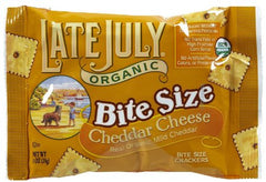 Late July Organic Mini Crackers Cheddar Cheese (e.a)