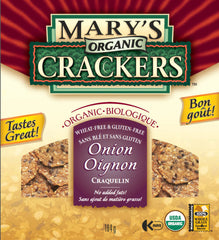 Mary's Organic Crackers Onion (184g)