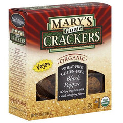 Mary's Gone Crackers Cracked Black Pepper (184g)  - Urbery