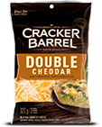 Cracker Barrel Shredded Cheese Double Cheddar (320g)