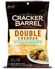 Cracker Barrel Shredded Cheese Double Cheddar Light (320g)