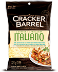 Cracker Barrel Shredded Cheese Italiano Light (320g)
