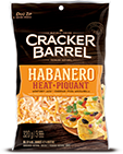 Cracker Barrel Shredded Cheese Habanero Heat (320g)