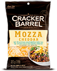 Cracker Barrel Shredded Cheese Mozzarella & Cheddar (320g)