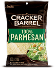 Cracker Barrel Shredded Cheese 100% Parmesan (250g)