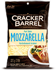 Cracker Barrel Shredded Cheese Part Skim Mozzarella (320g)