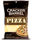 Cracker Barrel Shredded Cheese 3 Cheese Pizza Mozzarella (320g)