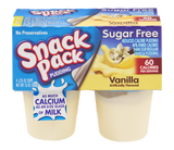 Snack Pack No Sugar Added Pudding Vanilla (4 pk)