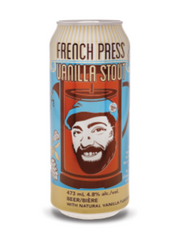 French Press Vanilla Stout Ale (473 mL can)  - Urbery