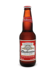Budweiser Lager (24x341 mL bottle)  - Urbery