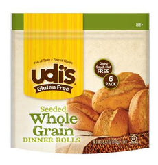 Udi's Gluten Free Dinner Roll Wholegrain (Pack of 6)