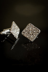 Square Celtic Knot Cufflinks