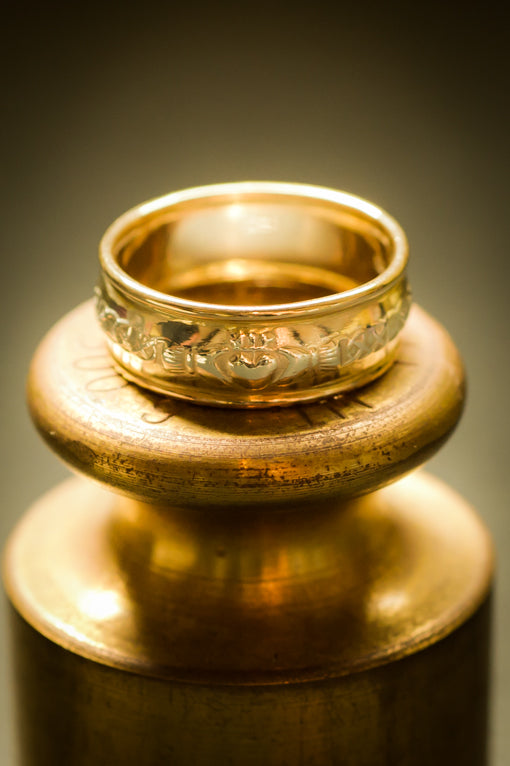 gold & silver claddagh ring