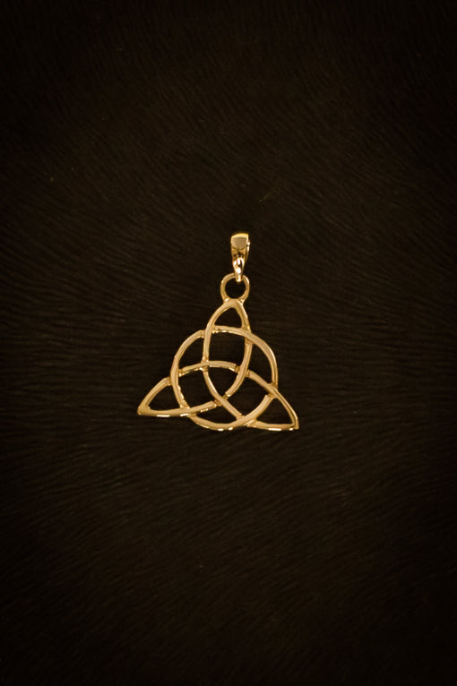 Gold celtic knot pendant