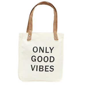 Beuteltasche VIBES aus Baumwolle - Shopper in off-white