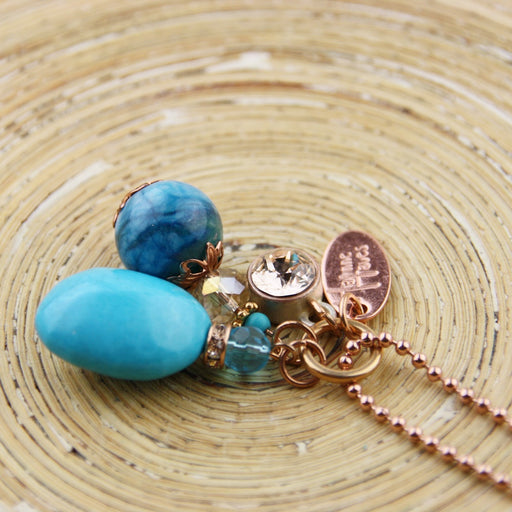 Lange ketting Turquoise Love Bling