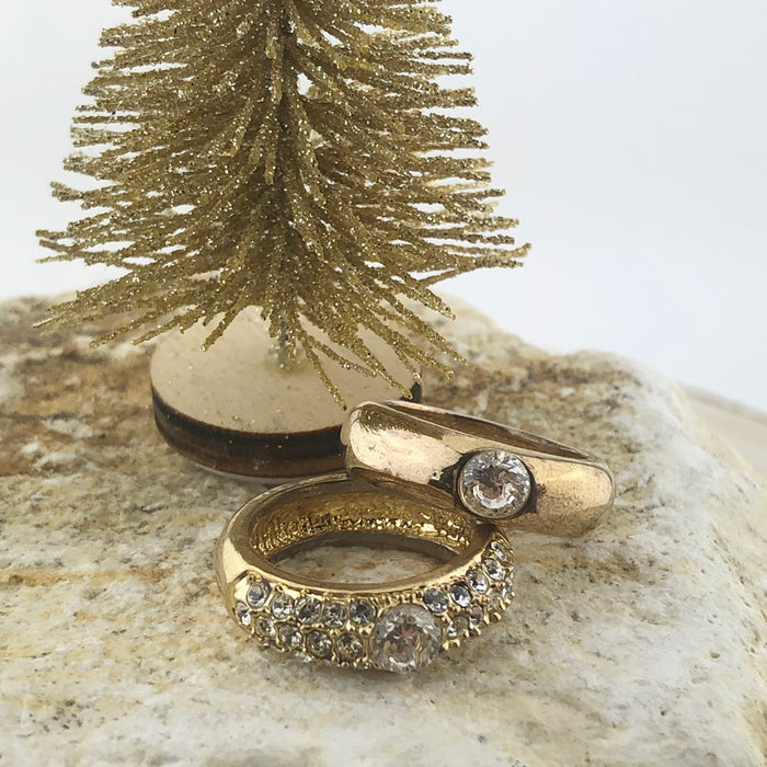 Ring Vintage Gold Strass stones